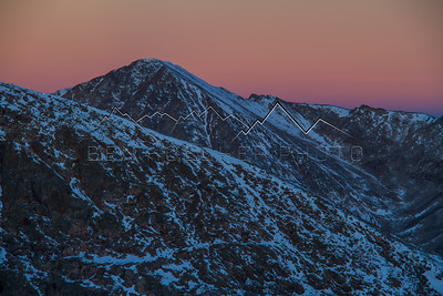 Mt. Jackson with Sunrise Alpenglow