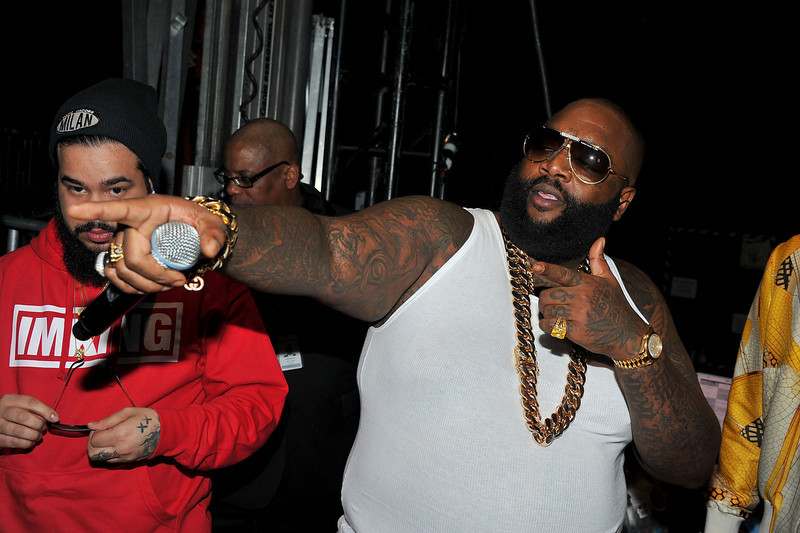 . Rapper Rick Ross attends BET\'s Rip The Runway 2013:Backstage Hammerstein Ballroom on February 27, 2013 in New York City.  (Photo by Theo Wargo/Getty Images for BET\'s Rip The Runway)