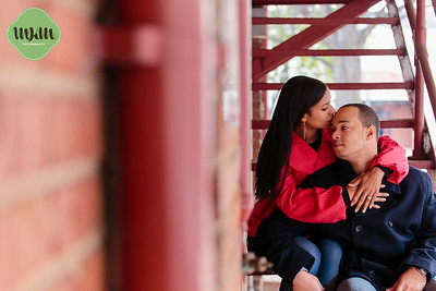 Danisha & Brandon | A Cozy Winter Engagement in Downtown Raleigh