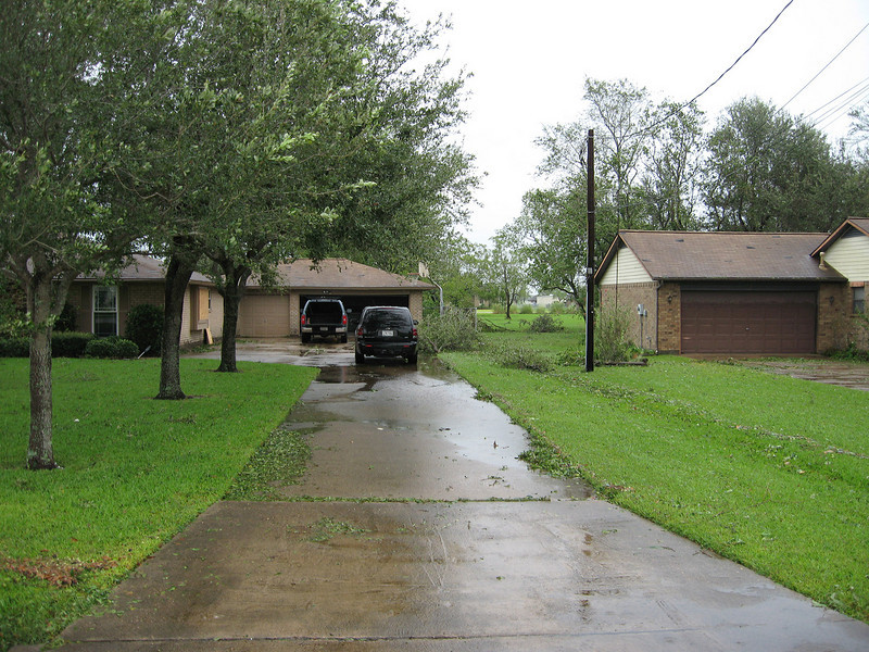 My parents house on the left and my grandmothers house on the right.