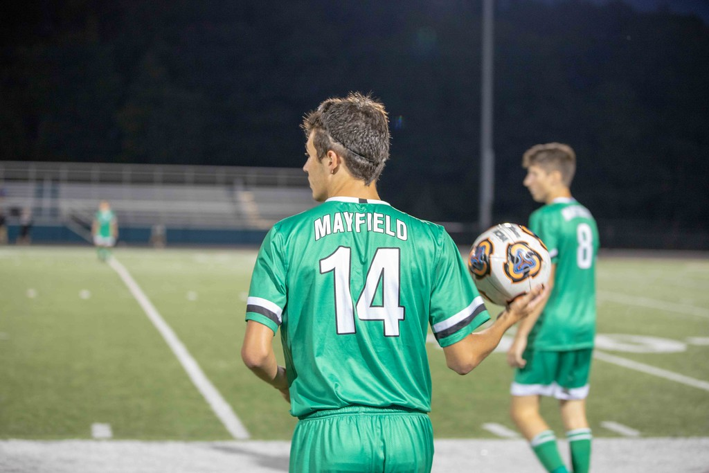 . Frank Gambatese - The News-Herald Action from Mayfield-Brush boys soccer Sept. 11.