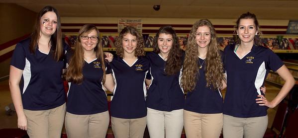 Valley Lutheran girls varsity bowling 20140221