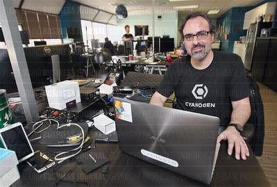 Cyanogen founder Steve Kondik is pictured in his company's Seattle, Washington headquarters