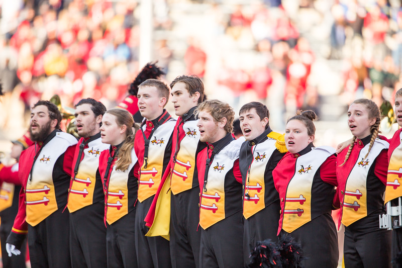 Maryland Band Seniors sing the Alma Mater