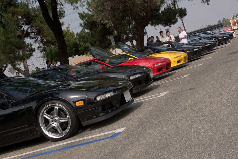 NSXs and S2Ks gather at Columbia Park (a park I haven't visited since I ran cross-country for South High School)
