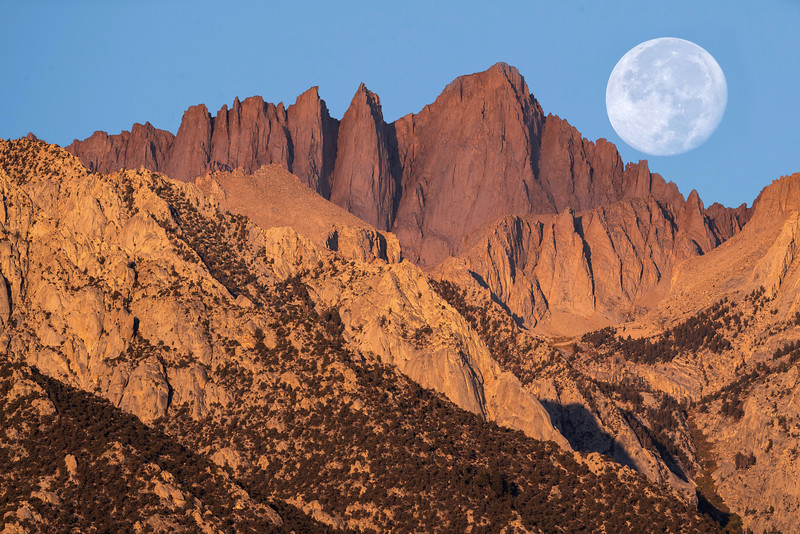 Harvest Moon over Mt. Whitney