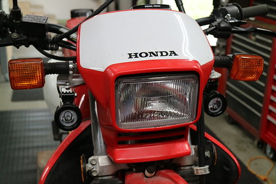 Honda XR650L LED aux light kit