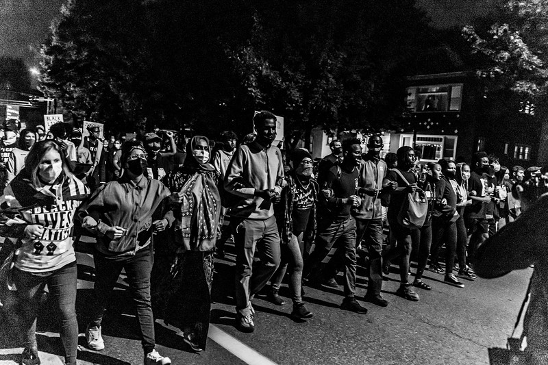 2020 10 07 Chauvin out of jail protest - BW-48.jpg