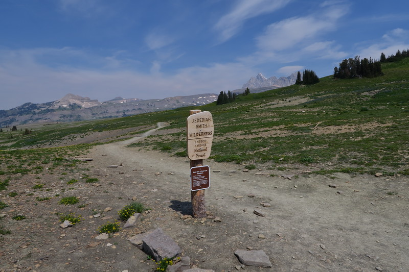 Leaving Grand Teton and entering the Jedediah Smith Wilderness Area - one of many times to cross the boundary.
