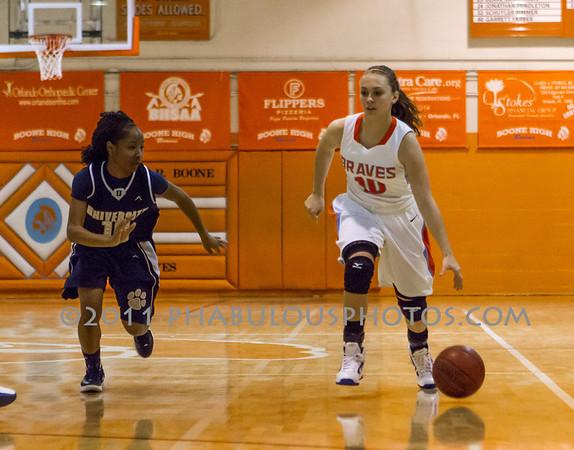 University @ Boone Girls Varsity Basketball - 2011