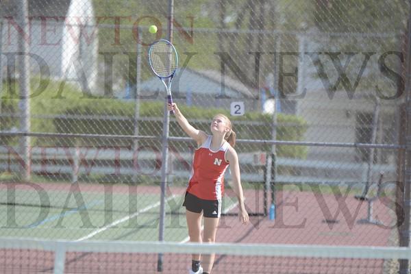 Newton Girls Tennis vs. Grinnell 4-29-21