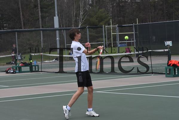 LUHS Boys' Tennis at GNC Meet May 11, 2019