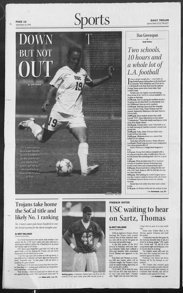 Daily Trojan, Vol. 156, No. 20, September 20, 2005