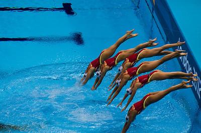 London Olympics Synchronized Swimming