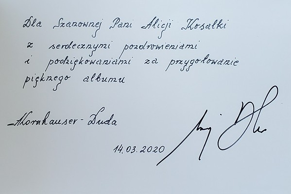 2020 Dedication from Polish President & First Lady