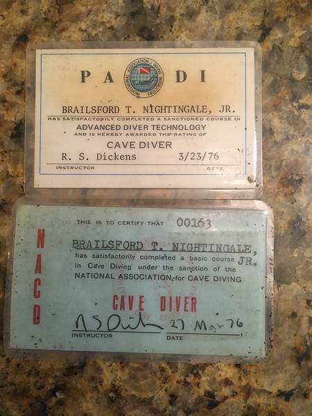 Scuba and Cave Diving Certificates