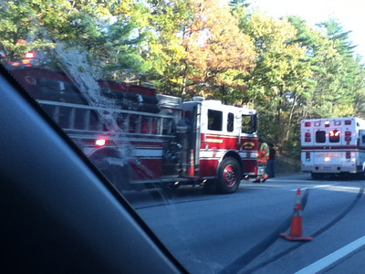 Rollover Oct 18th 2012 I93 northbound north of Exit 4