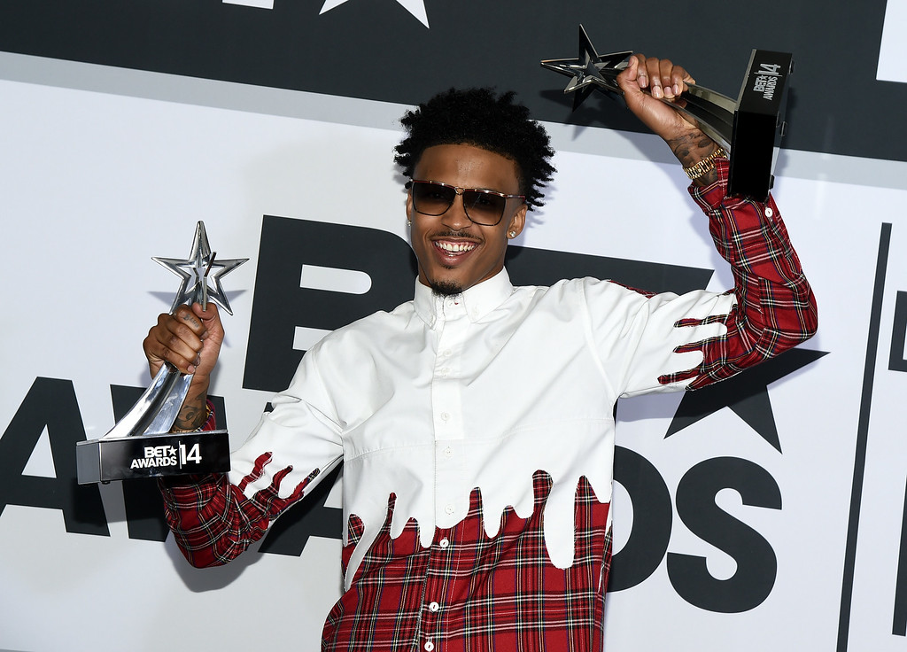 . Singer August Alsina poses in the press room during the BET AWARDS \'14 at Nokia Theatre L.A. LIVE on June 29, 2014 in Los Angeles, California.  (Photo by Michael Buckner/Getty Images for BET)