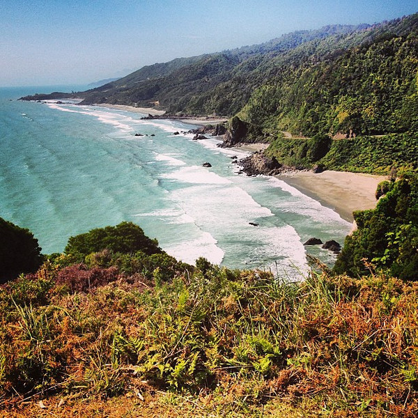 Welcome to the wild west coast of South Island, New Zealand. A great coastal Sunday drive.