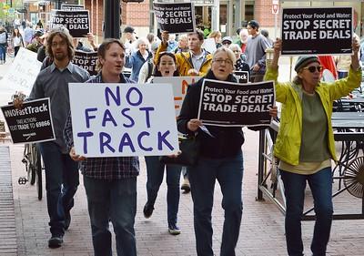 TPP FastTrack Protest - Boulder, Co 5/6/15