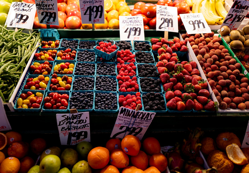 Fruit Stand at Pike Place Market