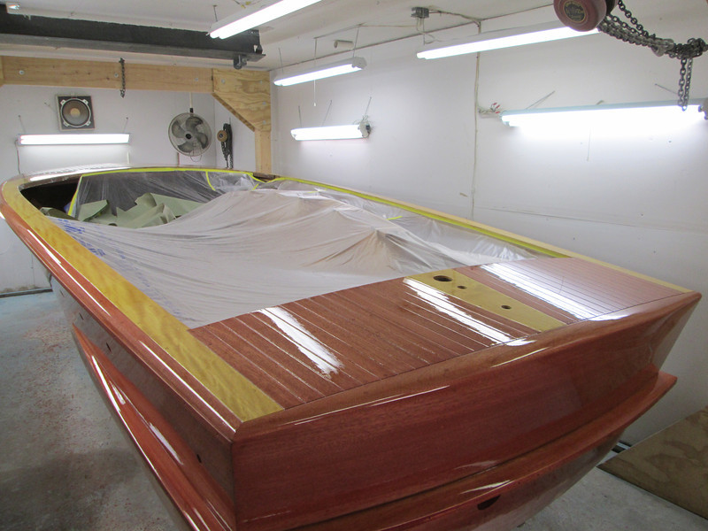 Rear deck view of first coat.
