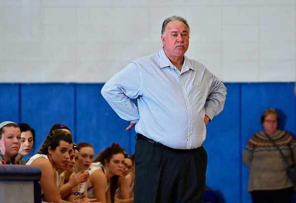 1/2/2019 Mike Orazzi | Staff St. Paul Catholic High School's Joe Mone during Wednesday night's girls basketball game with Sacred Heart in Bristol.