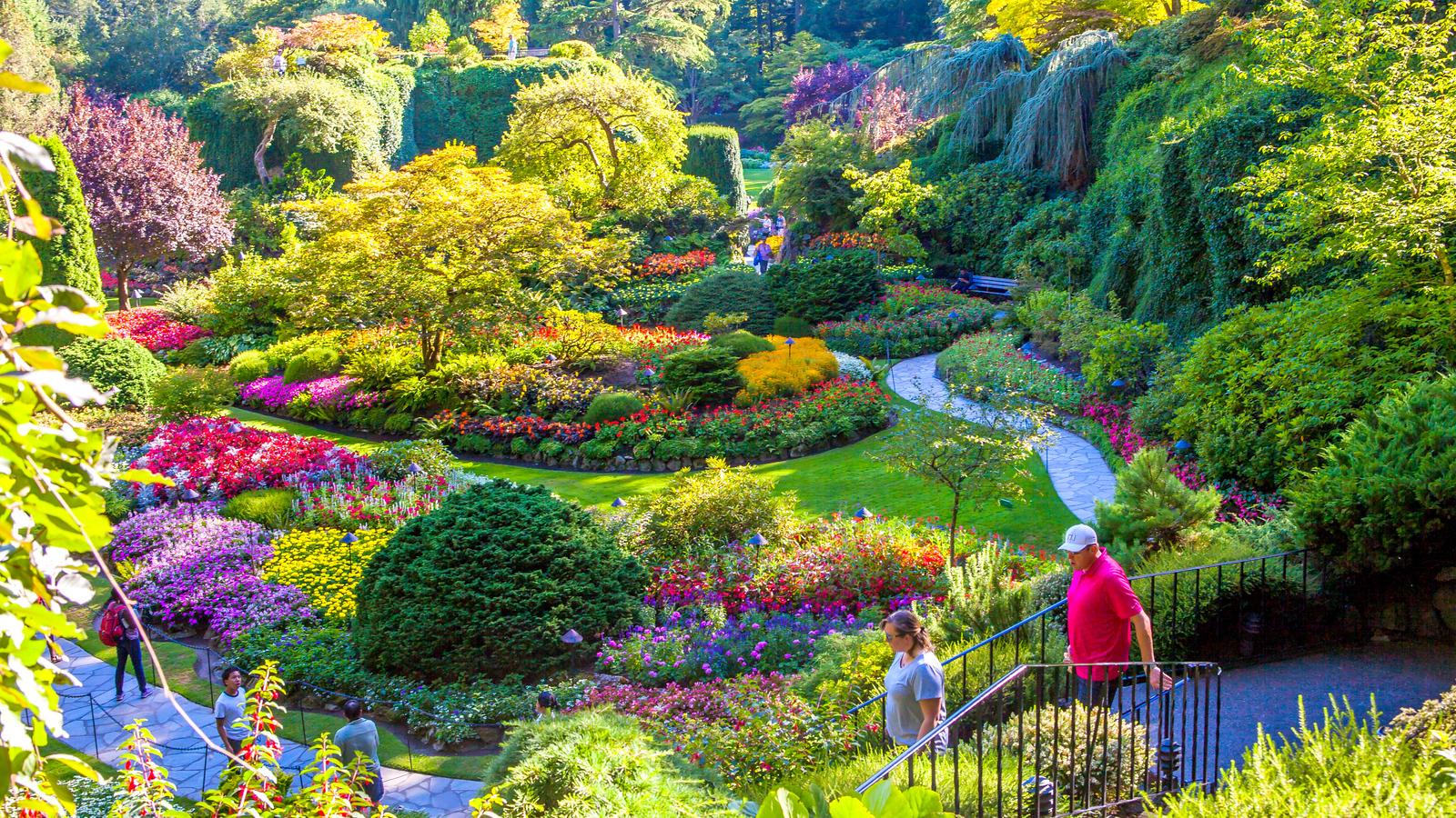 加拿大布查德花园,庭院风格很强烈