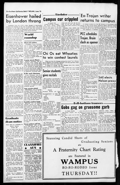 Daily Trojan, Vol. 36, No. 143, June 13, 1945