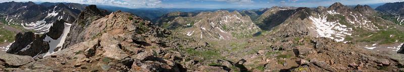 Panorama from West Partner Peak, Gore Range, CO