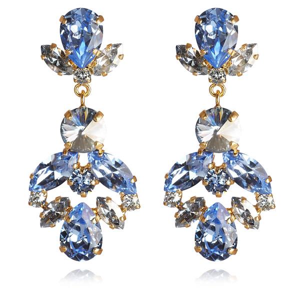 Melina Earrings / Light Sapphire + Blue Shade