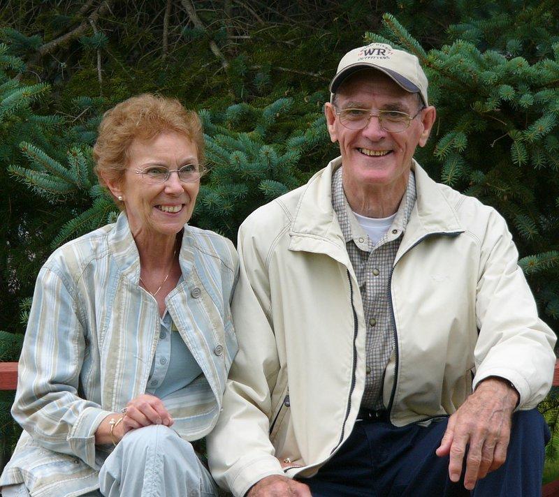 Aunt Leaune (Ouellette) and Jim.