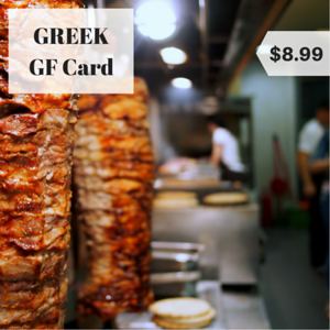 greek gluten free restaurant card