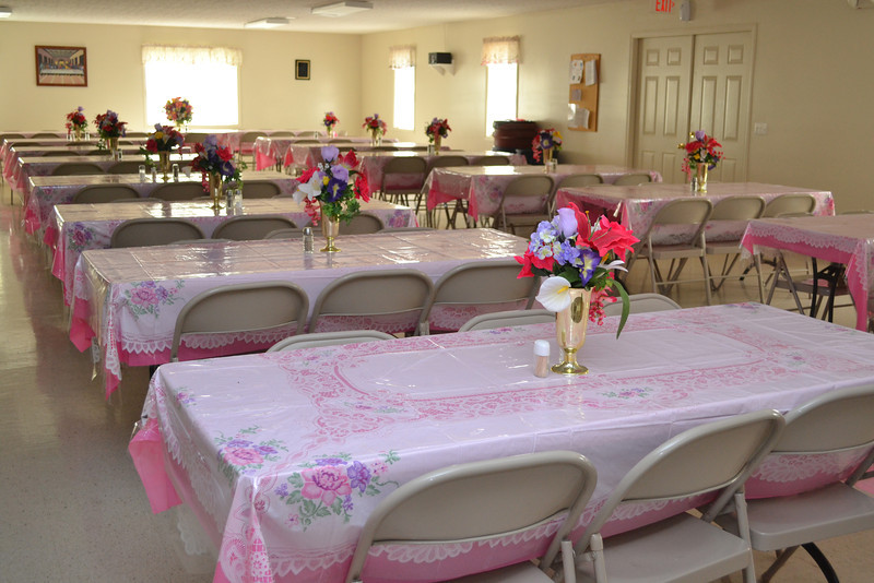 Dining room which can be opened up to main sanctuary for extra seating for special events.