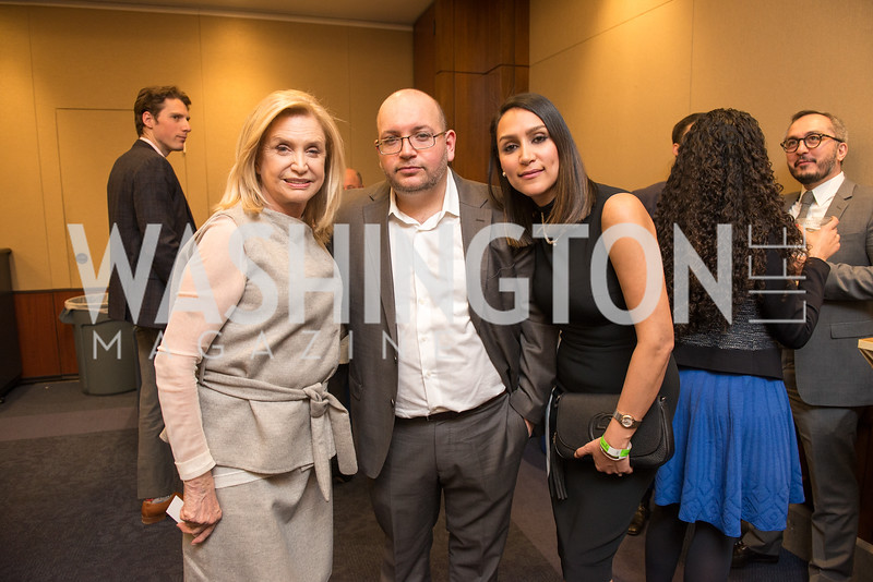 Rep. Carolyn Maloney, Jason Rezaian, Yeganeh Rezaian, Capitol Hill Nowruz Reception, hosted by PAAIA, March 19, 2018, photo by Ben Droz.