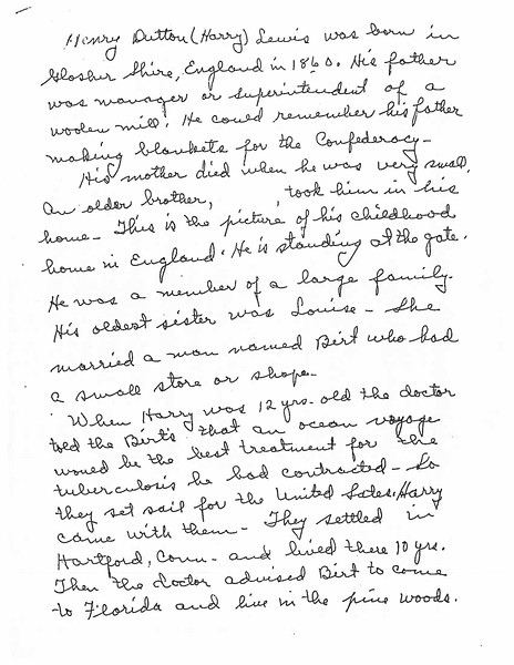 Letter from Pearl Lewis Davis re Henry Dutton Lewis life_Page_1.jpg