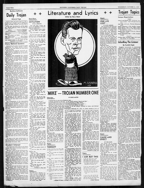 Daily Trojan, Vol. 31, No. 19, October 11, 1939