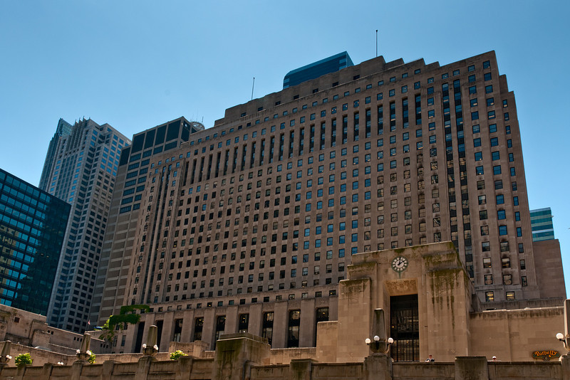 Riverside Plaza building, formerly the Chicago Daily News building, from 1929.