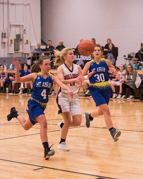 2019 Girls Varsity  Basketball:  Hall-Dale vs Mt Abram