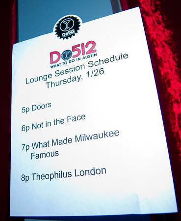 01/26/2012 - Not in the Face at the Do512 Lounge