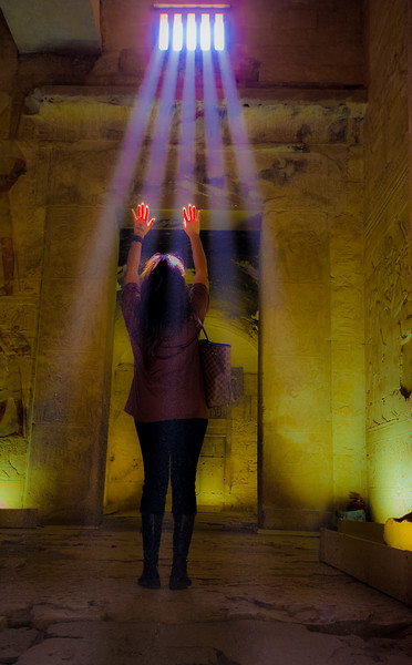 Ghostly Lights in the Temple of Seti I @ Abydos, Egypt