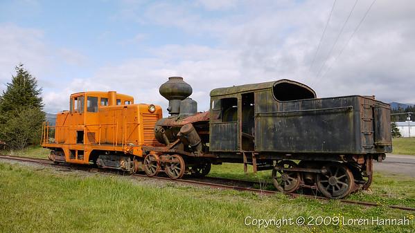 Tillamook, OR - Cool Old Train near Blimp Hangar