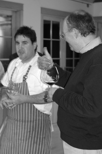 """SCOTT WRIGHT GIVING CHEF PAUL THE """"THUMBS UP"""" FOR A MEAL WELL RECEIVED!"""
