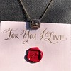 'For You I Live' 18kt Rose Gold Cast Rebus Pendant, by Seal & Scribe 6