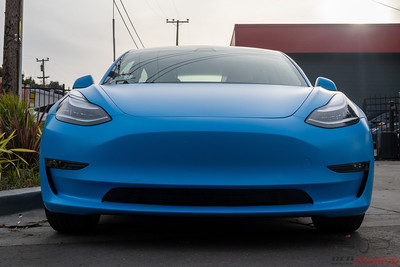Tesla Model 3 - 3M Riviera Matte Blue and Coating