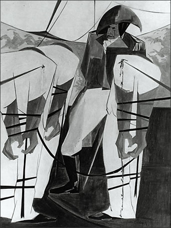 """Jacob Lawrence, """"Struggle...From the History of the American People No. 19"""" (1956)"""