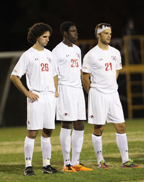 From left: Number 26, Jonas Nader, Number 25, Denzel Clarke, Number 21, Eric Yeager.