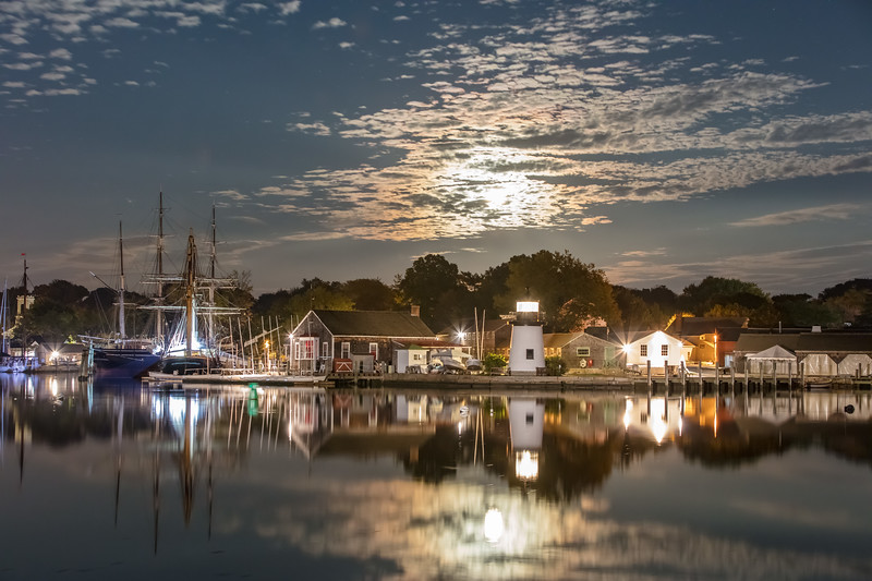 Mystic Seaport Moonrise