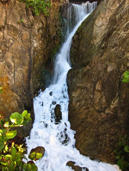 Waterfall at the Fisherman Reef hotel, St Thomas