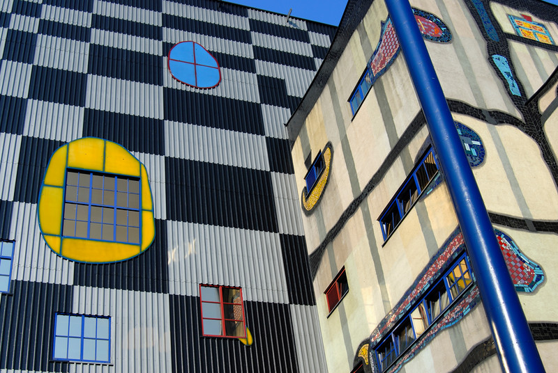 Colourful Facade of Spittelau Plant, Vienna